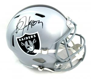 Bo Jackson Signed Oakland Raiders Riddell Speed Full Size NFL Helmet-0