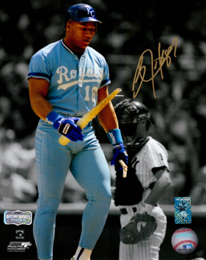Bo Jackson Signed Kansas City Royals Iconic 8x10 MLB Photo-0