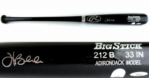 Hank Blalock Signed Rawlings Adirondack Black MLB Bat - MLB & Tristar - Texas Rangers-0
