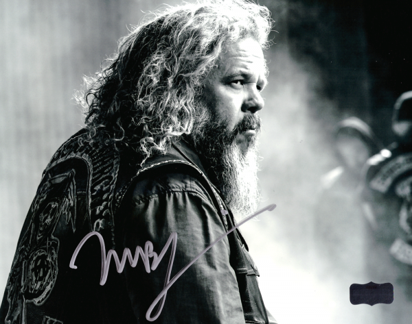 """Mark Boone Jr """"Bobby Munson"""" Autographed/Signed Iconic Sons of Anarchy Black & White 8x10 Photo-0"""