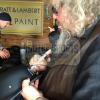 "Tommy Flanagan ""Chibs Telford"" & Mark Boone Jr ""Bobby Munson"" Autographed/Signed Black Matte Daytona Authentic Biker Helmet-323"
