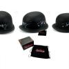 "Tommy Flanagan ""Chibs Telford"" & Mark Boone Jr ""Bobby Munson"" Autographed/Signed Black Matte Daytona Authentic Biker Helmet-0"
