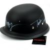 "Tommy Flanagan ""Chibs Telford"" & Mark Boone Jr ""Bobby Munson"" Autographed/Signed Black Matte Daytona Authentic Biker Helmet-327"