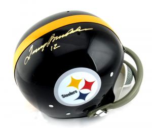 Terry Bradshaw Signed Pittsburgh Steelers Riddell TK Suspension NFL Helmet-0