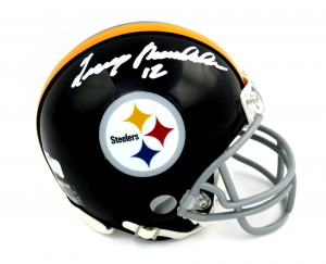 Terry Bradshaw Signed Pittsburgh Steelers Riddell Throwback NFL Mini Helmet-0
