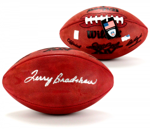 Terry Bradshaw Signed Wilson Authentic Super Bowl 14 NFL Football-0