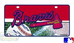 Atlanta Braves Officially Licensed MLB Metal License Plate-0