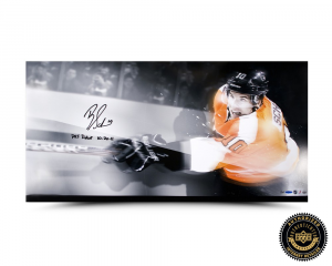 "Brayden Schenn Signed 36x18 Philadelphia Flyers Photo with ""Debut 10.20.11"" Inscription-0"