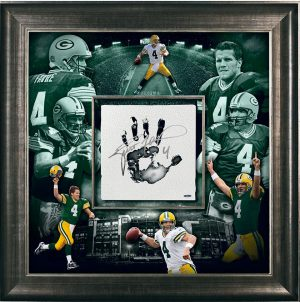 Brett Favre Signed Green Bay Packers Framed 36x36 Tegata - Limited Edition Of 44-0