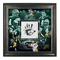 Brett Favre Signed Green Bay Packers Framed 36x36 Tegata - Limited Edition Of 44-24658