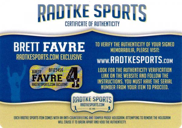 Brett Favre Signed Atlanta Falcons Blaze Mini Helmet-29367