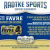 """Brett Favre Signed Minnesota Vikings Riddell Full Size NFL Helmet With """"HOF 16"""" Inscription-23837"""