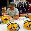 """Brett Favre Signed Green Bay Packers Riddell Full Size NFL Helmet with """"4 Retired 7/18/15"""" Inscription - LE #1 of 44-4122"""