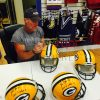 "Brett Favre Autographed/Signed Green Bay Packers Riddell Full Size NFL Helmet with ""Last to Wear 4"" Inscription - LE of 44-657"