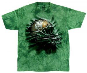 Brett Favre Bright Green Tie-Die Unisex T-Shirt - Gunslinger Helmet Print-0