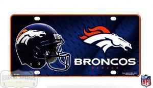 Denver Broncos Officially Licensed NFL Metal License Plate-0