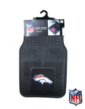Denver Broncos Officially Licensed 17x27 Heavy Duty Vinyl NFL Car Mats Set-0