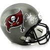 """Derek Brooks Autographed/Signed Tampa Bay Buccaneers Riddell Full Size NFL Helmet with """"HOF 2014"""" Inscription-0"""
