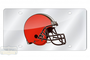 Cleveland Browns Officially Licensed NFL Laser Tag Mirror License Plate-0