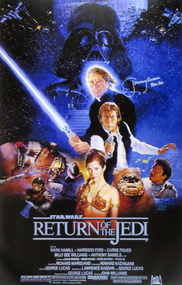 Jeremy Bulloch Signed Star Wars Return of the Jedi 24x36 Movie Poster-0