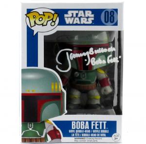 Jeremy Bulloch Signed Funko Pop Star Wars Boba Fett #08 Vinyl Bobble Head Figure-0