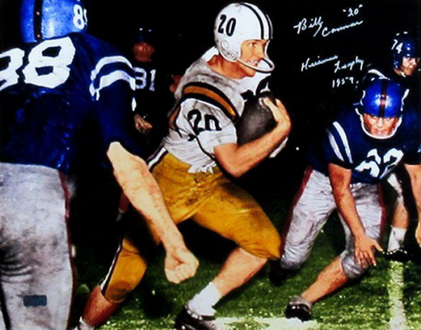 """Billy Cannon Signed LSU Tigers Iconic 16x20 Color Photo with """"1959 Heisman Trophy - CHOF"""" Inscription-0"""