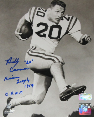 "Billy Cannon Signed LSU Tigers Iconic 8x10 Photo with ""Heisman Trophy 1959 - CHOF"" Inscription - Blue Ink-0"