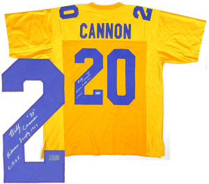 "Billy Cannon Signed LSU Tigers Yellow Custom Jersey with ""1959 Heisman Trophy - CHOF"" Inscription-0"