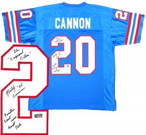 0f9153974 Billy Cannon Signed Houston Oilers Custom Jersey with