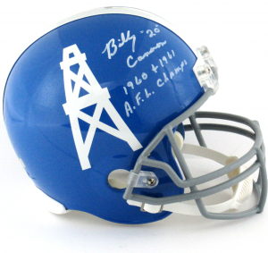 "Billy Cannon Signed Houston Oilers Riddell Full Size Helmet with ""AFL Champs"" Inscription-0"
