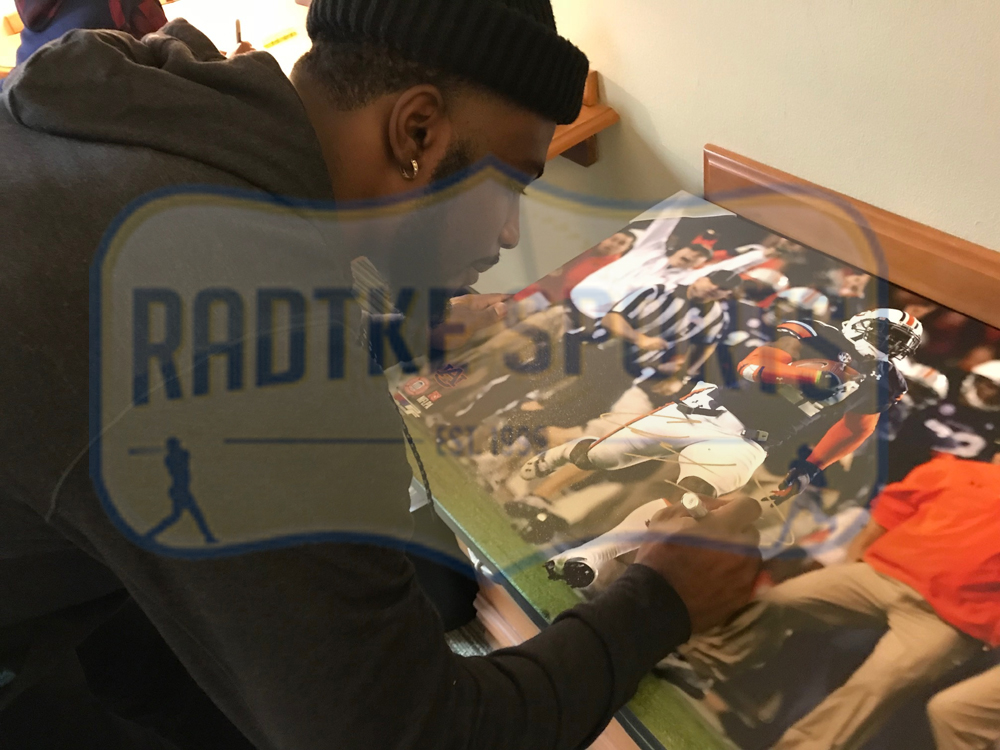 Chris Davis Signed Auburn Tigers 24x32 Wrapped Canvas With
