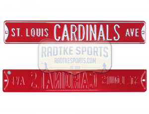 St Louis Cardinals Avenue Officially Licensed Authentic Steel 36x6 Red & White MLB Street Sign-0