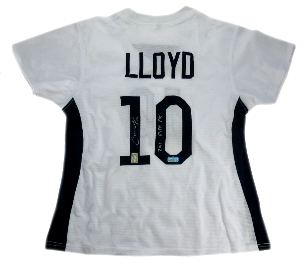 separation shoes ccec9 3db1d Carli Lloyd Signed US Women's Soccer White Custom Jersey with