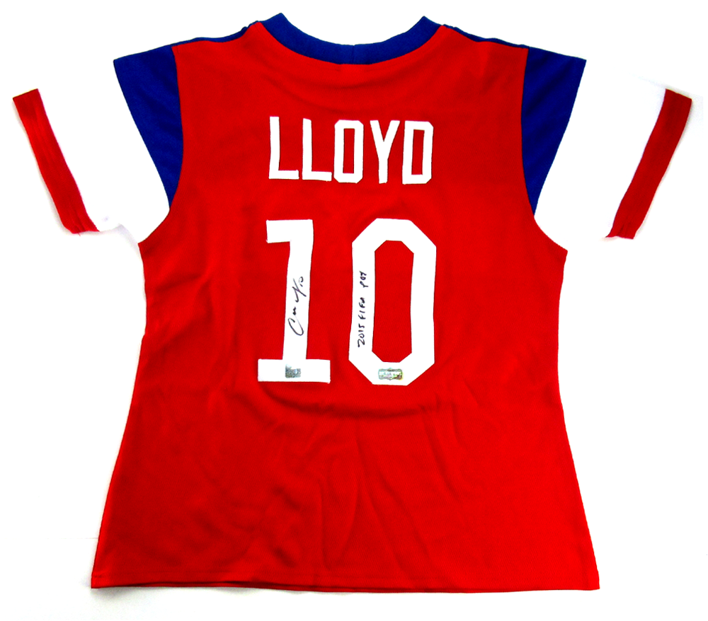 brand new 2a21a 446c4 Carli Lloyd Signed US Women's Soccer Red Custom Jersey with