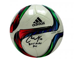 "Carli Lloyd Signed Adidas Conext 15 Soccer Ball with ""2015 FIFA POY"" Inscription-0"