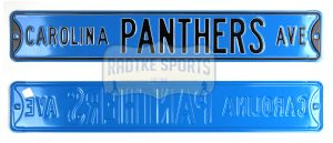 Carolina Panthers Avenue Officially Licensed Authentic Steel 36x6 Blue & Black NFL Street Sign-0