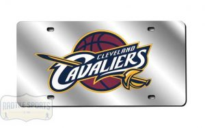 Cleveland Cavaliers Officially Licensed NBA Laser Tag Mirror License Plate-0