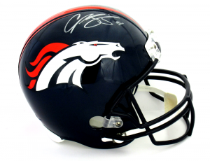 Champ Bailey Signed Denver Broncos Riddell Full Size NFL Helmet-0