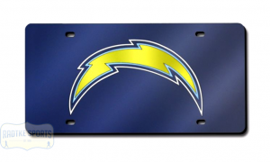 San Diego Chargers Officially Licensed NFL Laser Tag Mirror License Plate - Blue-0