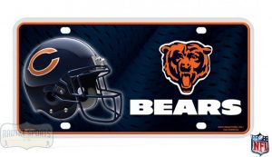 Chicago Bears Officially Licensed NFL Metal License Plate-0