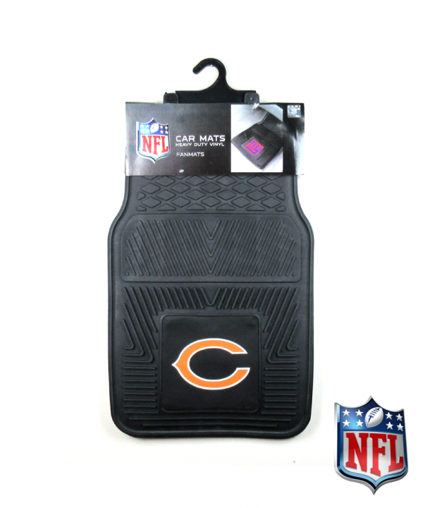 Chicago Bears Officially Licensed 17x27 Heavy Duty Vinyl NFL Car Mats Set-0