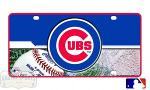 Chicago Cubs Officially Licensed MLB Metal License Plate-0