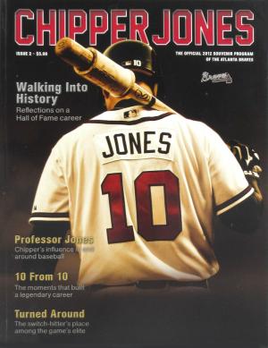 Atlanta Braves 2012 Chipper Jones Souvenir Baseball Program - Unsigned-0