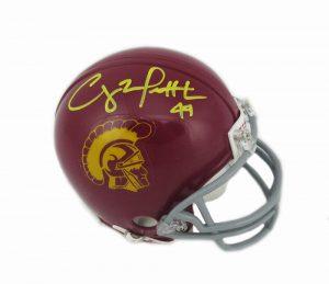 Clay Matthews Autographed/Signed USC Trojans Riddell NCAA Mini Helmet -0