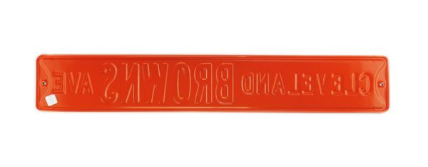 Cleveland Browns Avenue Officially Licensed Authentic Steel 36x6 Brown & Orange NFL Street Sign-17059