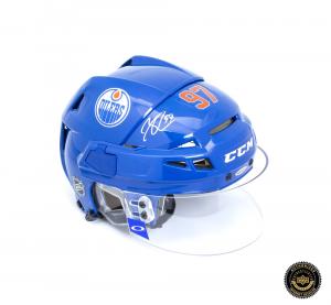 Connor McDavid Signed Edmonton Oilers Resistance Helmet-0