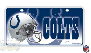 Indianapolis Colts Officially Licensed NFL Metal License Plate-0