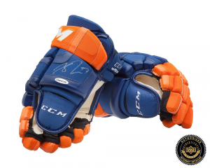 Connor McDavid Signed CCM Gloves - Edmonton Oilers -0
