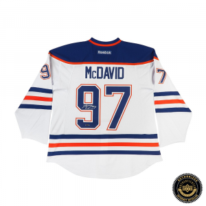 Connor McDavid Autographed/Signed Edmonton Oilers Authentic Reebok White Jersey-0