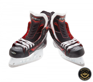 "Connor McDavid Signed CCM Jetspeed Skates with ""NHL Debut 10/9/15"" Inscription - Edmonton Oilers-0"